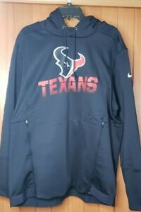 NIKE NFL HOUSTON TEXANS ONFIELD APPAREL THERMA FIT HOODIE MEN SIZE XL NEW W/TAGS