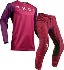 Thor Prime Pro Infection Maroon Red Orange Offroad Motocross Race Kit Gear Adult
