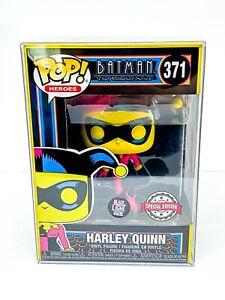 Batman Animated Series – Blacklight Harley Quinn SE Funko Pop 371 with Protector