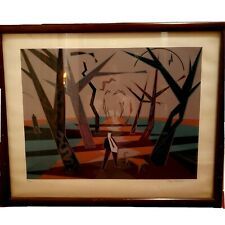Doug MacCash 1980s Mod Art Print New Orleans Artist Signed Numbered 85/100