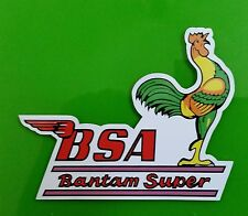 BSA BANTAM SUPER Vinyl DECAL STICKER NORTON TRIUMPH MOTORCYCLE WORKSHOP ARIEL
