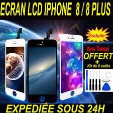 VITRE TACTILE + ECRAN LCD RETINA IPHONE 8 / 8 PLUS - NOIR ou BLANC + OUTILS/FILM