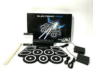 Haze Black+White Silicon Hand Roll Electronic Drum Kit w/Headphone Output MD760