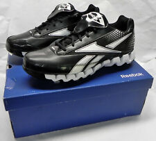"Reebok ""Pro Cooperstown Low Zig M"" Baseball Shoes, Sz 12M, Black White, New NIB"