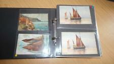 More details for ag973: postcard album with a 152 sailing related cards - early 1900's