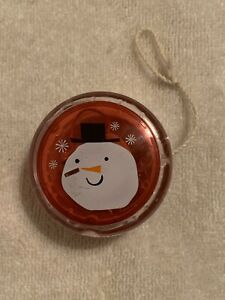 SNOWMAN YO-YO  Lights up Red when in use  String about 30 inches in length.