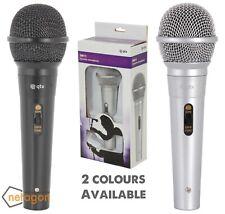 Qtx Black/Silver Disco DJ Vocal Karaoke Handheld Wired Dynamic Microphone BOXED