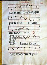 Huge deco.Antiphonary Manuscript Lf.Vellum, Unusual O and G initials,c.1500 #22