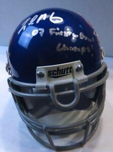 Legedu Naanee Autographed Mini Helmet Boise State 07 Fiesta Bowl Champs UDA