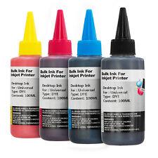 4x 100 ml nero e colore a scelta FLACONI COLORANTE stampante inchiostro PER CARTUCCE STAMPANTE CISS
