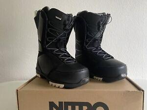 NITRO Snowboard Schuhe SENTINEL TLS BLACK WHITE 2021   Größe 39 1/3 / 25.5   NEU