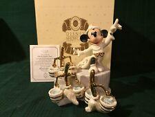 Disney Lenox Mickey Mouse While the Sorcerer's Away + Box & Coa
