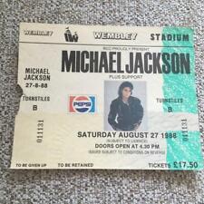 Michael Jackson Unused ticket Wembley Stadium 27/08/88 #0111131  Bad tour