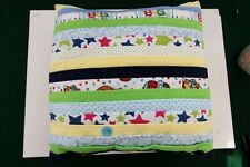 New listing Handcrafted Soft Flannel Pillow - Stars, Clowns, Circus #5681