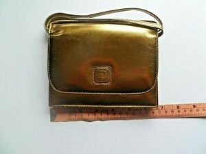 Leather Pink panther Gold Handbag with strap Made in Cyprus Excellent Condition