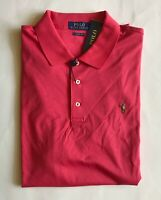 $85 NWT Mens Polo Ralph Lauren Classic Fit Knit Short Sleeve Shirt Spring Red XL