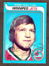 1979-80 Winnipeg Jets' Bobby Hull Autographed (Finepoint) OPC Card #185...