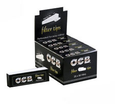 OCB Roach Filter Tips Perforated For Easy Rolling Papers FULL BOX of 25 BOOKLETS