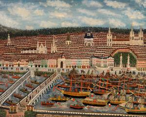 View of Bordeaux by Jean Baptiste Guiraud 60cm x 48cm Art Paper Print