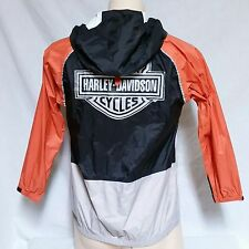 VTG Harley Davidson Windbreaker Jacket 3M Coat Riding Biker Rain Hooded Large