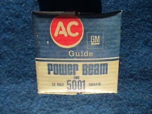 GM AC Guide Headlight Seal Beam Bulb High Beam NOS # 5965416 5001 Dated 1971