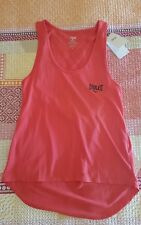 EVERLAST women's girls gym wear active tank top singlet running size 10 Scarlet
