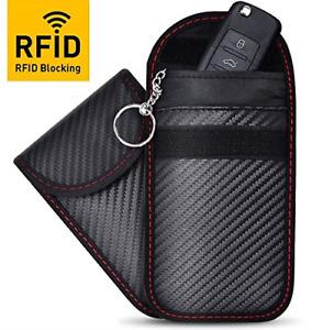 2 Pack Faraday Key Fob Protector, RFID Key Fob Protector Pouch, Faraday Bag RFID