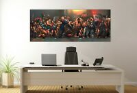 SF Street Fighter Back Alley Panoramic Picture Canvas Print Home Decor Wall Art