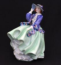 Royal Doulton Top O Of The Hill Figurine Green HN1833 Bone China Lady Figure