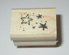Stars Rubber Stamp Stampin' Up! Background Sports Celestial Retired Wood Mounted