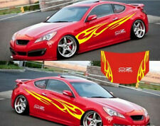 A Set Car Body Head Cover PVC Stickers  Racing Decals For Yellow OZ Flame Totem