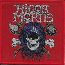 RIGOR MORTIS - Rigor Mortis *RED* - Woven Patch / Aufnäher