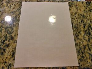 CLEAR glossy inkjet printable vinyl - 100 pack (8.5in x 11in)