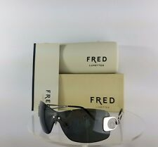 Brand New Authentic Fred Sunglasses Silver Success Solaire 102 F1 Gold Frame