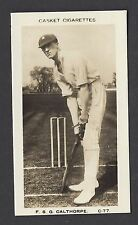 More details for pattreiouex (early) - famous cricketers (printed) - #c77 f s g calthorpe