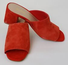 Aldo Shoes Heels Slides Mules Suede Orange Redish Womens Size 7