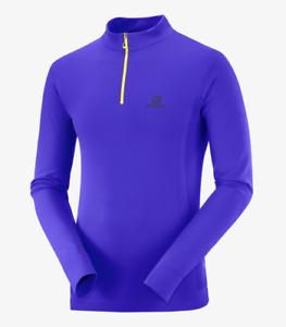 2021 Salomon Men's Seamless Half Zip Long Sleeve Shirt - Medium