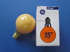 General Electric Glühlampe E14 15W 230-240V Tropfenlampe Orange