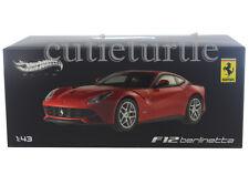 Hot Wheels Elite Ferrari F12 Berlinetta 1:43 Diecast Red X5499