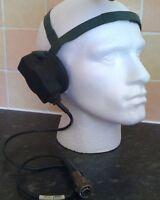 British Army PTT Transducer Radio Headset RACAL CLANSMAN  PRC-319 Used Grade 1