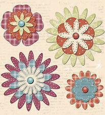 RAGAMUFFIN Layered Paper Flower Brads scrapbooking