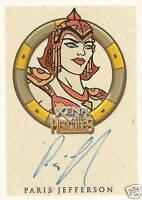 Hercules Xena Paris Jefferson Athena Autograph auto insert trading card