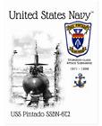 USS PINTADO SSBN-672 ATTACK SUBMARINE SUBMARINE  -  Postcard