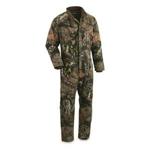 New Heavy Duty HuntRite Men's Camo Insulated Coveralls Mossy Oak Size M L XL 2XL