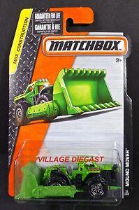 2015 Matchbox #31 Mound Mover™ GREEN METALLIC / DUAL-RINGED 8-DOT WHEEL / MOC