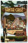 Santa Cruz California Montage Beach Boardwalk Amusement Park etc Modern Postcard