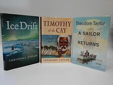 Lot of 3 Theodore Taylor/Ice Drift/Timothy of the Cay/A Sailor Returns