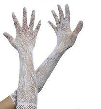 Guanti da donna in pizzo bianco