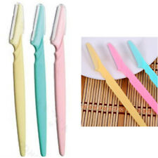 Women Beauty Eyebrow Razor Trimmer Shaper Brow Shaver Hair Removal Tool x 3