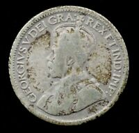 "1936 10C Canadian 80% Silver King George V Canada Dime - ""BAR"" VARIETY - GOOD"